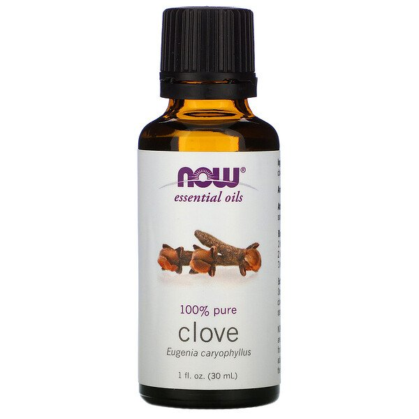 Now Foods, Aceites esenciales, clavo de olor, 1 fl oz (30 ml)