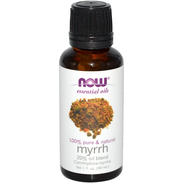 Now Foods, Essential Oils, Myrrh, 20% Oil Blend, 1 fl oz (30 ml)