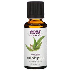 Now Foods, Essential Oils, Eucalyptus, 1 fl oz (30 ml) отзывы покупателей