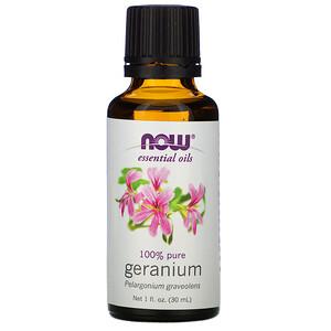 Now Foods, Essential Oils, Geranium, 1 fl oz (30 ml) отзывы