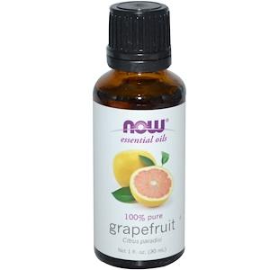 Now Foods, Эфирное масло грейпфрута, 1 жидкая унция (30 мл) инструкция, применение, состав, противопоказания