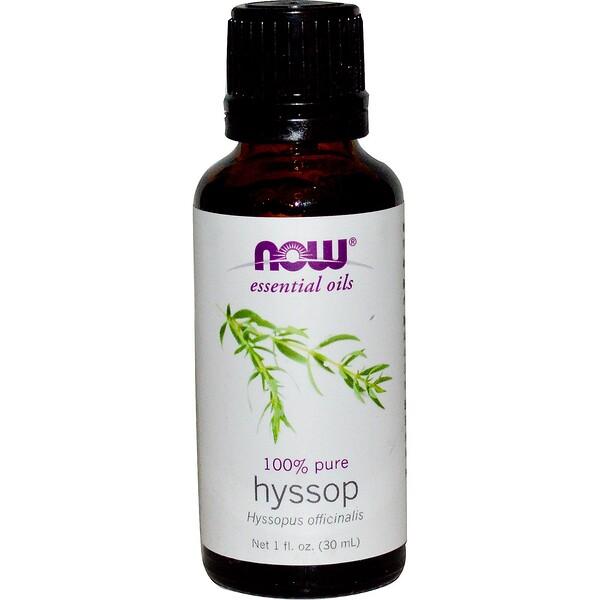 Now Foods, Essential Oils, Hyssop, 1 fl oz (30 ml) (Discontinued Item)