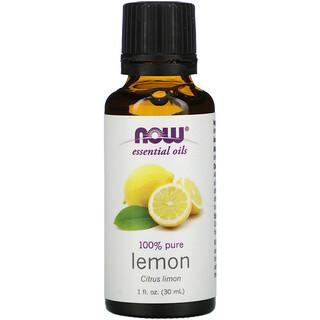 Now Foods, Essential Oils, Lemon, 1 fl oz (30 ml)