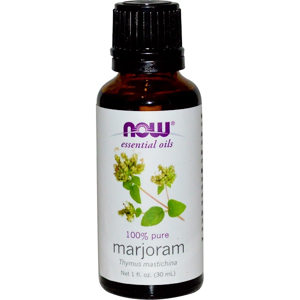 Now Foods, Essential Oils, Marjoram Oil, 1 fl oz (30 ml)