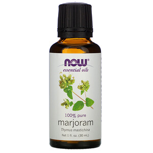 Now Foods, Essential Oils, 100% Pure Marjoram , 1 fl oz (30 ml) отзывы