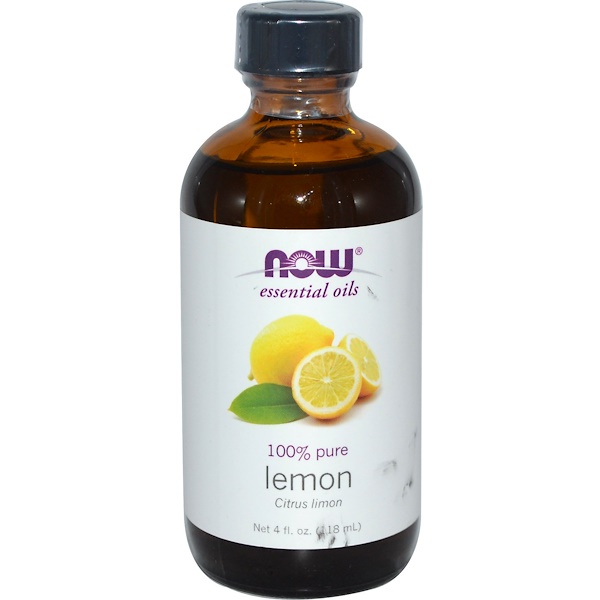 Now Foods, Essential Oils, Lemon, 4 fl oz (118 ml) (Discontinued Item)