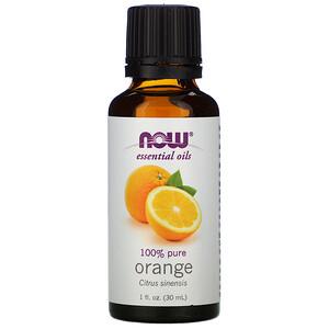 Now Foods, Essential Oils, Orange, 1 fl oz (30 ml) отзывы покупателей