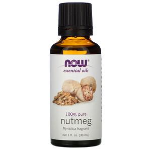 Now Foods, Essential Oils, Nutmeg, 1 fl oz (30 ml) отзывы