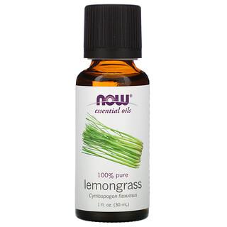 Now Foods, Essential Oils, Lemongrass, 1 fl oz (30 ml)