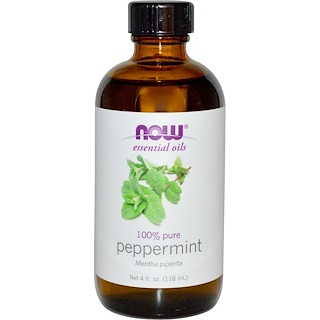 Now Foods, Essential Oils, Peppermint, 4 fl oz (118 ml)