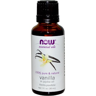 Now Foods, Essential Oils, Vanilla, In Jojoba Oil, 1 fl oz (30 ml)