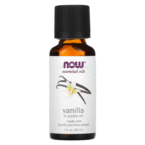 Essential Oils, Vanilla in Jojoba Oil, 1 fl oz (30 ml)