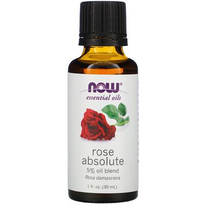Купить Now Foods эфирные масла, абсолютное масло розы, 30мл (1жидк.унция)