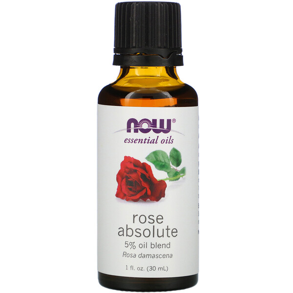Now Foods, Aceites Esenciales, Absoluto de Rosa, 1 fl oz (30 ml)