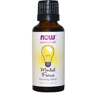 Now Foods, Essential Oils, Mental Focus, 1 fl oz (30 ml)