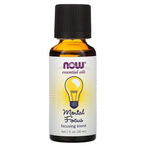 Now Foods, Essential Oils, Mental Focus, 1 fl oz (30 ml) отзывы покупателей