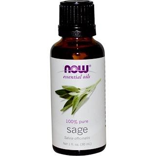 Now Foods, Aceites Esenciales, Salvia, 1 fl oz (30 ml)