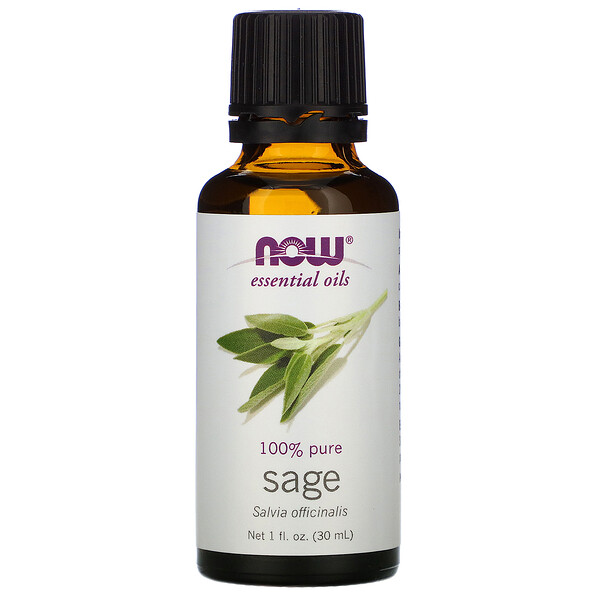 Now Foods, Aceites Esenciales, Salvia, 1 fl oz (30 ml)