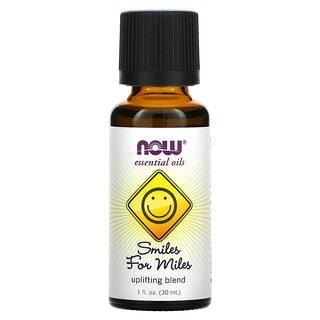 Now Foods, Aceites esenciales, sonrisas por millas, mezcla que eleva, 1 fl oz (30 ml)