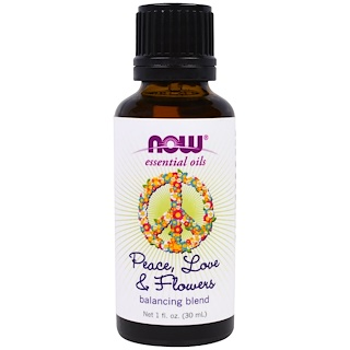 Now Foods, Essential Oils, Peace, Love & Flowers, Balancing Blend, 1 fl. oz (30 ml)