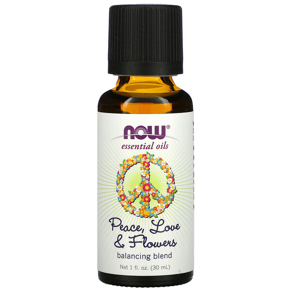 Essential Oils, Peace, Love & Flowers, Balancing Blend, 1 fl. oz (30 ml)