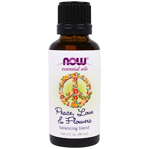 Now Foods, Essential Oils, Peace, Love & Flowers, Balancing Blend, 1 fl. oz (30 ml) отзывы покупателей