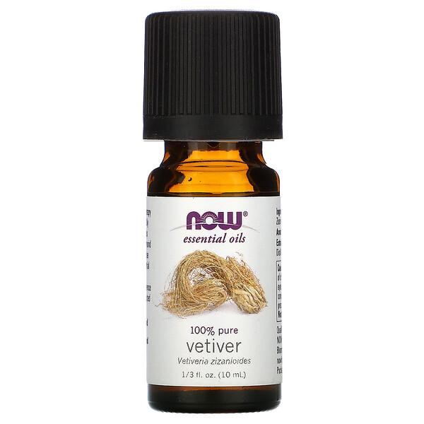 Essential Oils, 100% Pure Vetiver, 1/3 fl oz (10 ml)