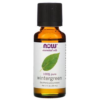 Now Foods, Essential Oils, 100% Pure Wintergreen, 1 fl oz (30 ml)
