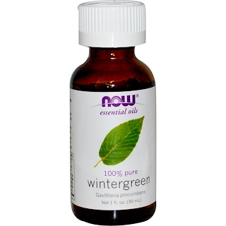 Now Foods, Aceites Esenciales, Wintergreen, 1 fl oz (30 ml)