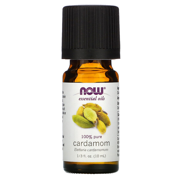 Essential Oils, 100% Pure Cardamom, 1/3 fl oz (10 ml)