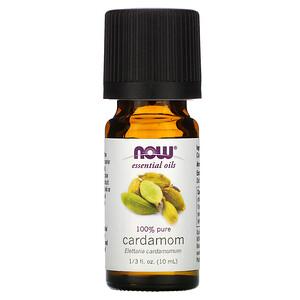 Now Foods, Essential Oils, 100% Pure Cardamom, 1/3 fl oz (10 ml) отзывы