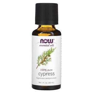 Now Foods, Essential Oils, Cypress, 1 fl oz (30 ml) отзывы покупателей