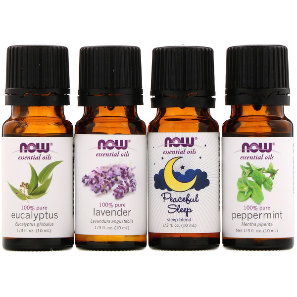 Let There Be Peace & Quiet, Relaxing Essential Oils Kit, 4 Bottles, 1/3 fl oz (10 ml) Each