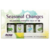 Now Foods, Cambios de estación, Kit para balancear aceites esenciales, 4 botellas, 1/3 oz. (10 ml) cada una