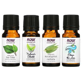 Now Foods, Seasonal Changes, Balancing Essential Oils Kit, 4 Bottles, 1/3 fl oz. (10 ml) Each