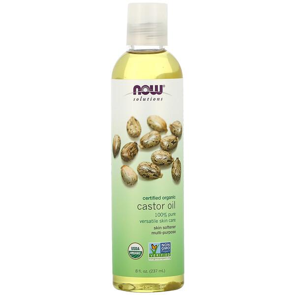 Now Foods, Solutions, сертифицированное органическое касторовое масло, 237мл (8жидк. унций)
