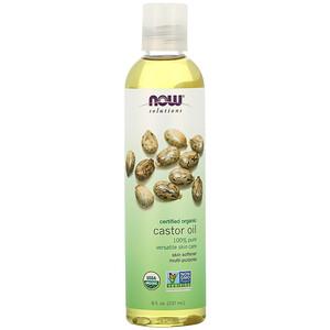 Now Foods, Solutions, Certified Organic Castor Oil, 8 fl oz (237 ml) отзывы покупателей