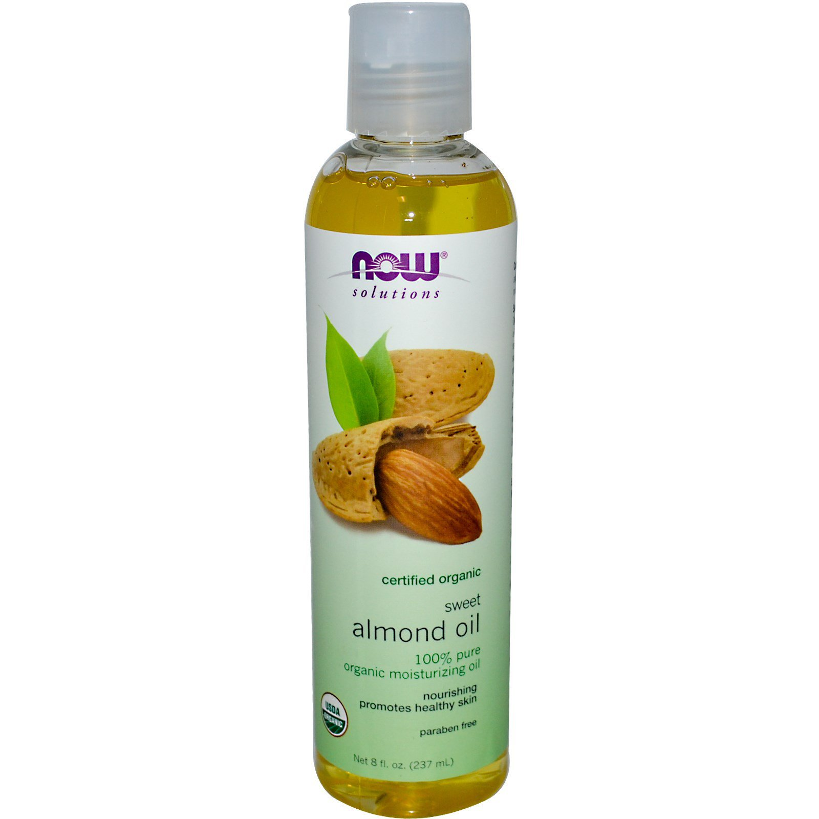 Now Foods, Solutions, Organic Sweet Almond Oil, 8 fl oz (237