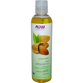 Now Foods, Solutions, Organic Sweet Almond Oil, 8 fl oz (237 ml)