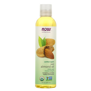 Now Foods, Solutions, Certified Organic Sweet Almond Oil, 8 fl oz (237 ml)