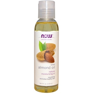 Now Foods, Solutions, 달콤한 아몬드 오일, 4 fl oz (118 ml)