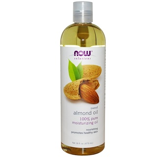 Now Foods, Solutions, 스위트 아몬드 오일, 16 fl oz (473ml)