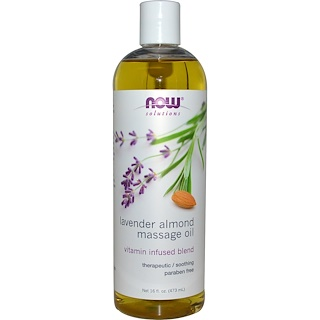 Now Foods, Solutions, Lavender Almond Massage Oil, 16 fl oz (473 ml)