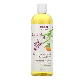 Now Foods, Solutions,Lavendel-Mandel-Massageöl, 16 fl oz (473 ml)