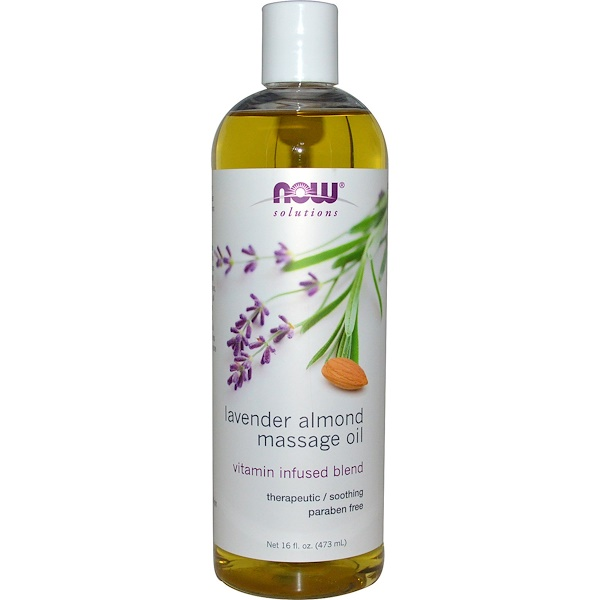 Solutions, Lavender Almond Massage Oil, 16 fl oz (473 ml)