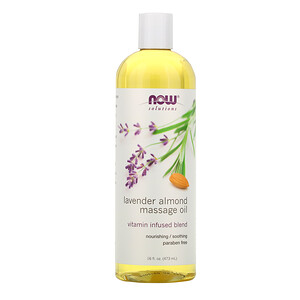 Now Foods, Solutions, Lavender Almond Massage Oil, 16 fl oz (473 ml) отзывы покупателей