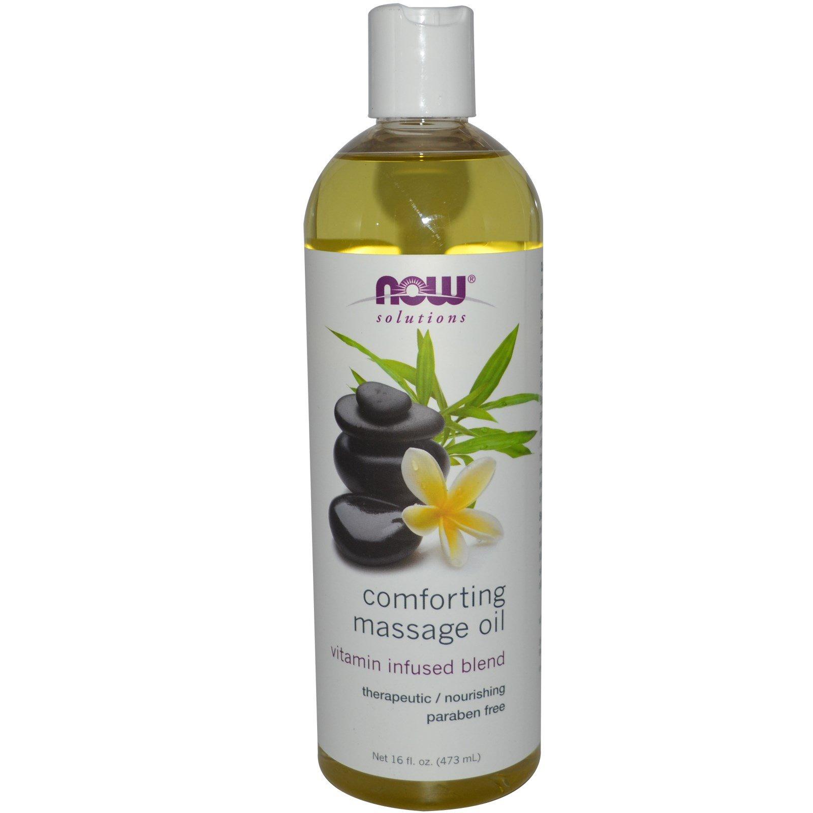 Now Foods, Solutions, расслабляющее массажное масло, 16 жидких унций (473 мл)