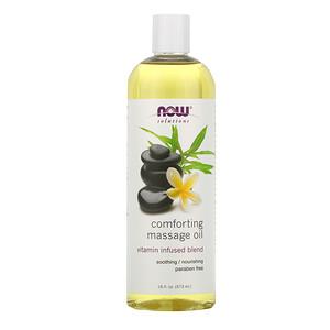 Now Foods, Solutions, Comforting Massage Oil, 16 fl oz (473 ml) отзывы покупателей