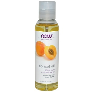 Now Foods, Now Foods, Solutions, абрикосовое масло, 4 жидких унции (118 мл)