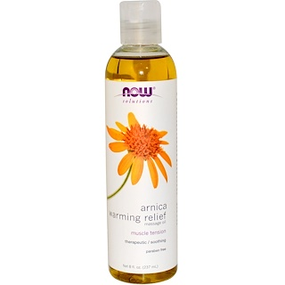 Now Foods, Solutions, Óleo de Massagem de Arnica Relaxante com Aquecimento, 237 ml